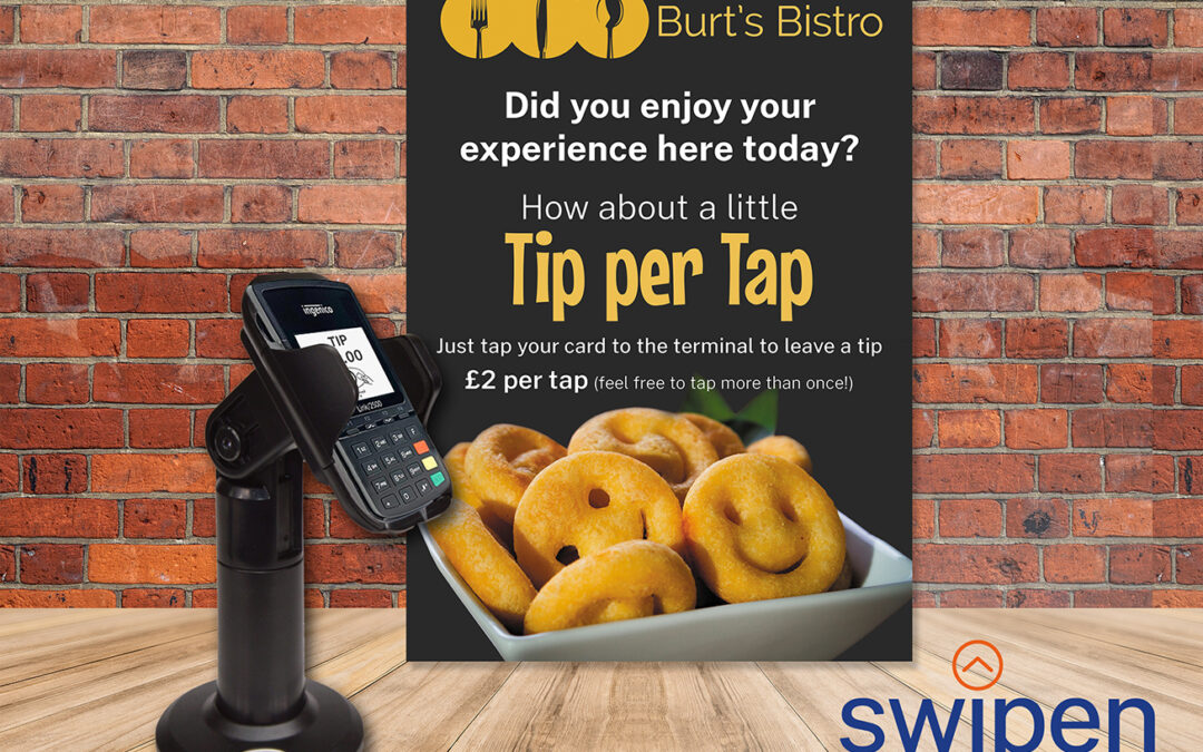 Are you no longer able to receive cash or card tips? How about a little Tip Per Tap!